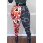 Lovely Casual Patchwork Camouflage Printed Pants