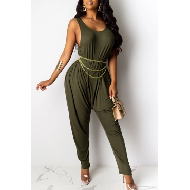 Lovely Casual Loose Army Green One-piece Jumpsuit