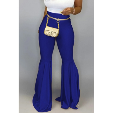 Lovely Casual Flared Blue Pants