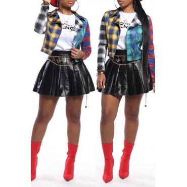 Lovely Casual Ruffle Design Black Mini Skirt