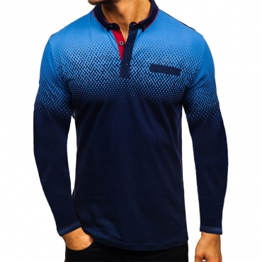 Lovely Casual Navy Blue Polo Shirt
