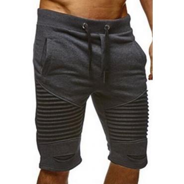 Lovely Casual Ruffle Design Dark Grey Shorts