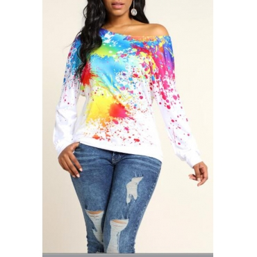 Lovely Leisure Printed White Sweatshirt Hoodie