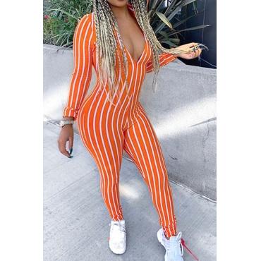 Lovely Trendy Striped Orange One-piece Jumpsuit