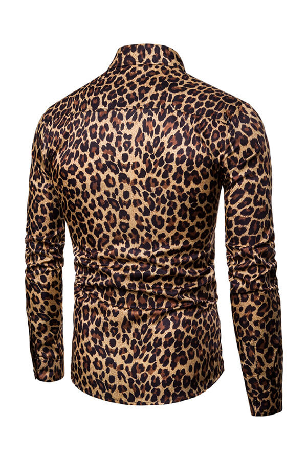Lovely Casual Leopard Printed Yellow Shirt
