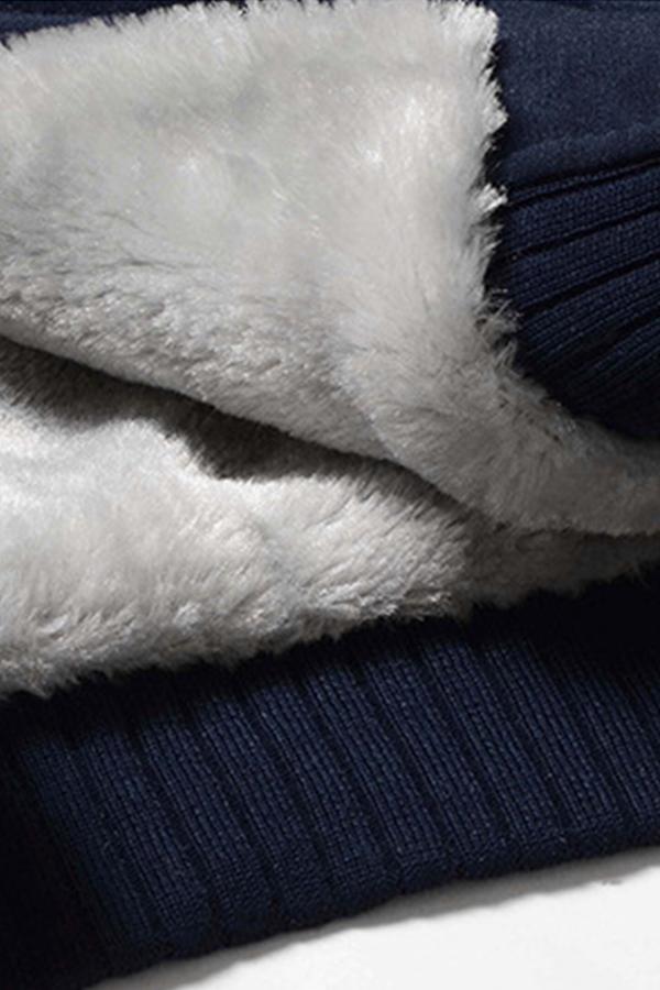 Lovely Sportswear Patchwork Deep Blue Hoodie