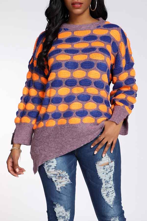Lovely Casual Dot Croci Sweater