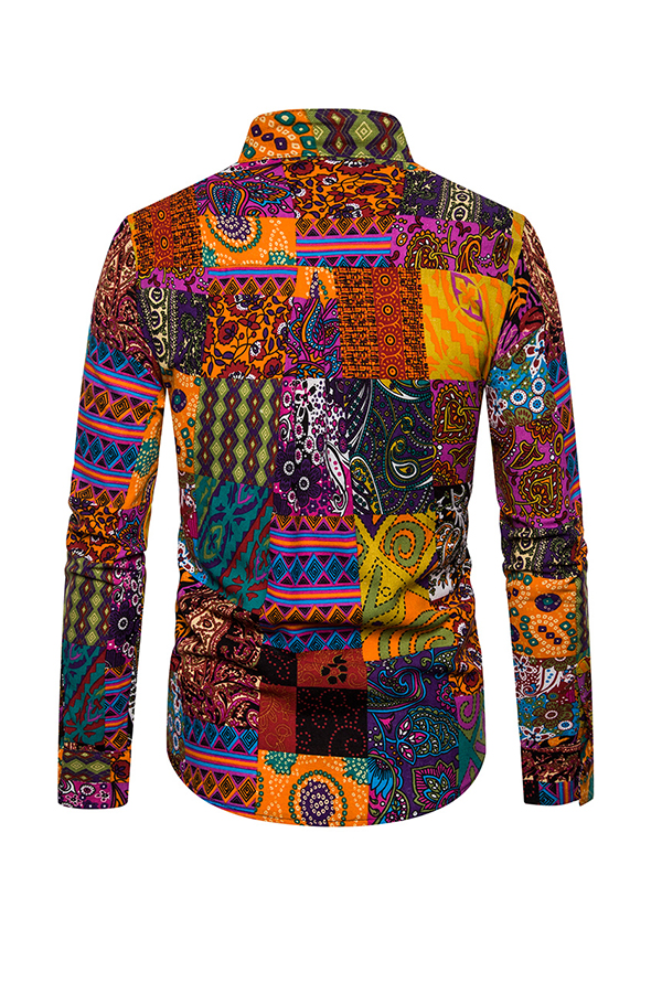 Lovely Bohemian Print Multicolor Shirt
