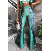 Lovely Trendy High Waist Green Pants