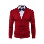 Lovely Chic  Buttons Design Red Cardigan(Without S