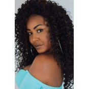 Lovely Street Short Curly Black Wigs