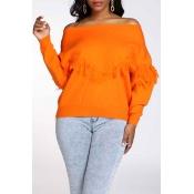 Lovely Casual Tassel Design Croci Sweater