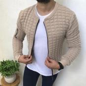 Lovely Casual Basic Khaki Jacket