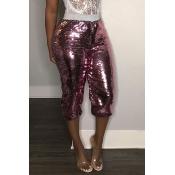 Lovely Casual Skinny Purple Pants
