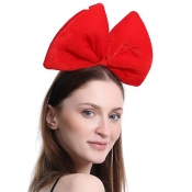 Lovely Christmas Day Bow-Tie Red Hairpin