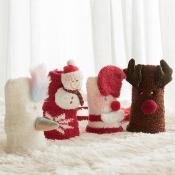 Lovely Sweet Santa Claus Red Socks