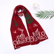 Lovely Christmas Day Christmas Deer Wine Red Scarv