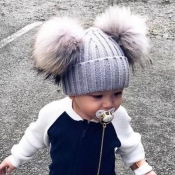 Lovely Cute Grey Baby Beanie