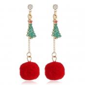 Lovely Christmas Day Gold Earring