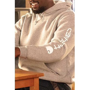 Lovely Casual Hooded Collar Letter Grey Hoodie