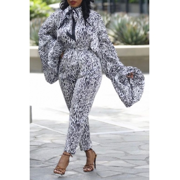 Lovely Chic Leopard Printed One-piece Jumpsuit