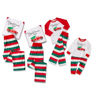 Lovely Family Striped White Kids Two-piece Pants Set