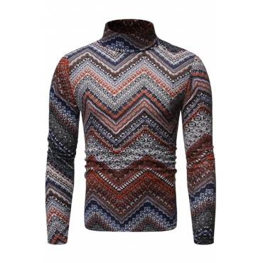 Lovely Casual Turtleneck Blown T-shirt