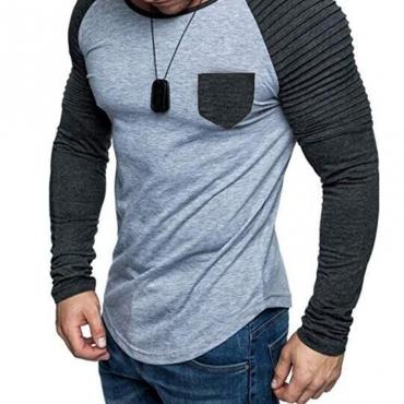 Lovely Casual Ruffle Design Light Grey T-shirt