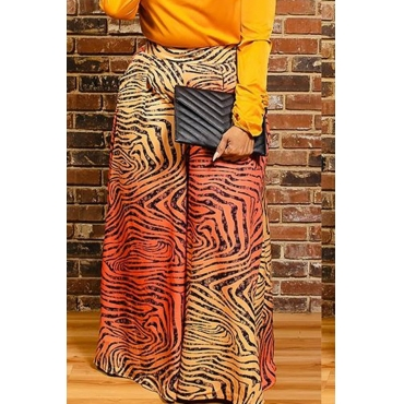 Lovely Casual Print Basic Multicolor Plus Size Pants