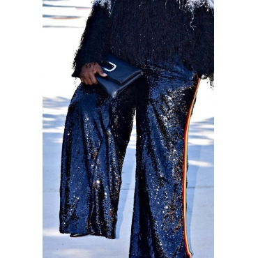 Lovely Trendy Loose Black Plus Size Pants