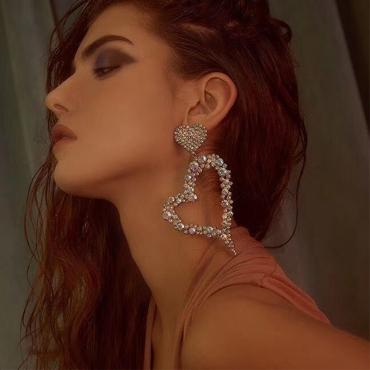 Lovely Trendy Heart Gold Earring