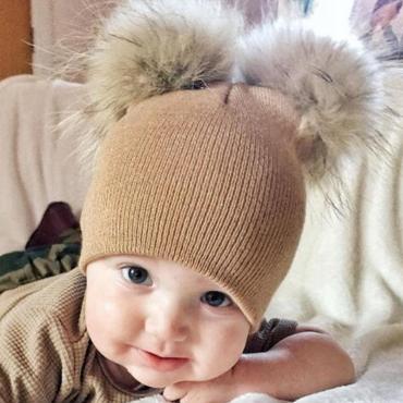 Lovely Cute Khaki Baby Beanie
