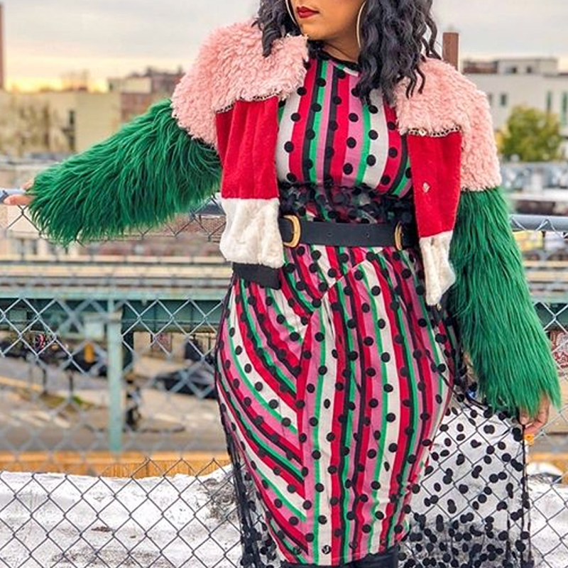 Lovely Casual Patchwork Multicolor Coat