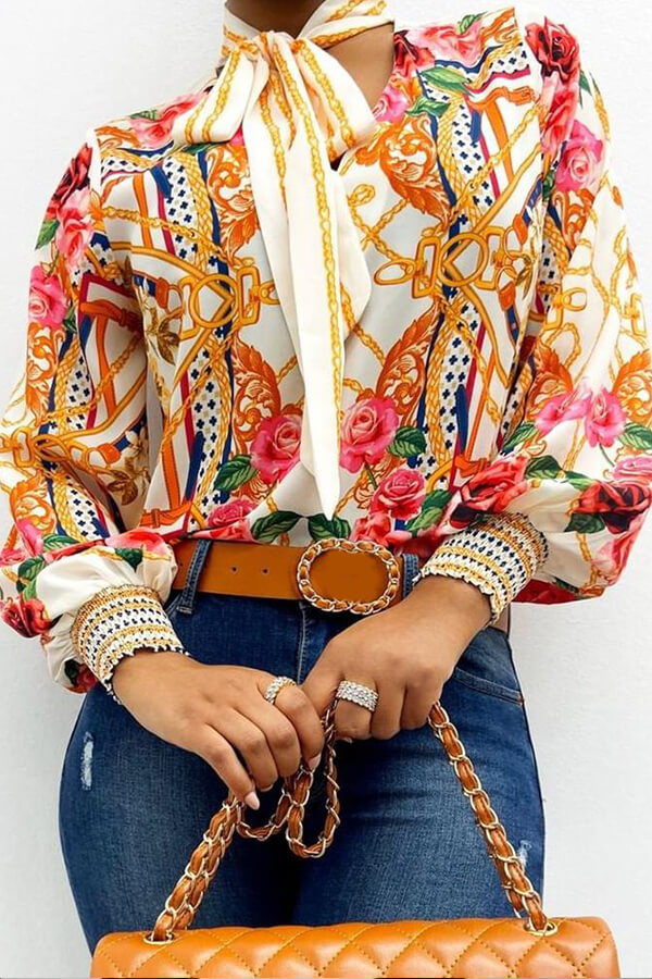 Lovely Casual Print Multicolor Blouse