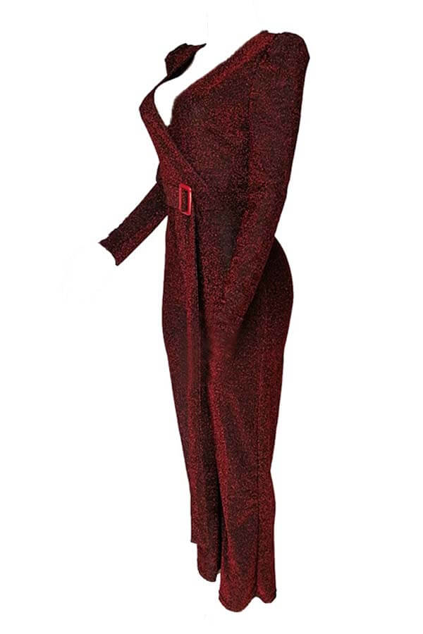 Lovely Chic Loose Wine Red One-piece Jumpsuit