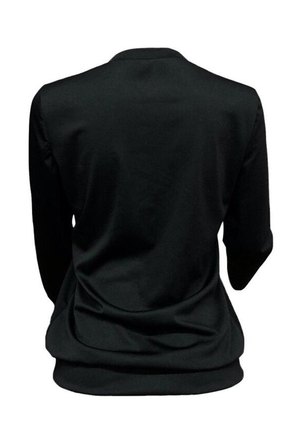 Lovely Casual Letter Black Sweatshirt Hoodie