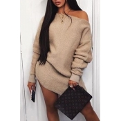 Lovely Chic Basic Khaki Mini Dress
