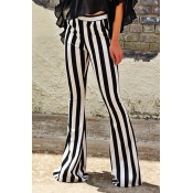 Lovely Casual Striped Black Pants