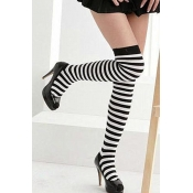 Lovely Casual Striped Long Socks