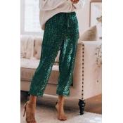 Lovely Casual Drawstring Green Pants