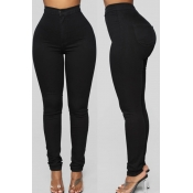 Lovely Trendy Skinny Black Pants