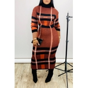 Lovely Casual Turtleneck Jacinth Ankle Length Dres