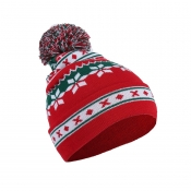 Lovely Casual Snowflakes Red Beanie