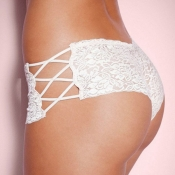 Lovely Sexy Hollow-out White Panties