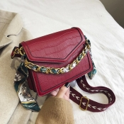 Lovely Chic Patchwork Red Crossbody Bag