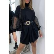Lovely Sweet Dot Print Black  Mini Dress