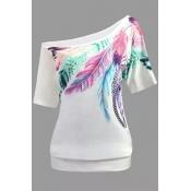 Lovely Casual Basic White Plus Size T-shirt