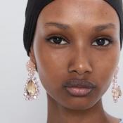 Lovely Trendy Pink Crystal Earring