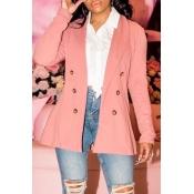 Lovely Work Button Pink Blazer
