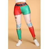Lovely Leisure Patchwork Skinny Multicolor Legging